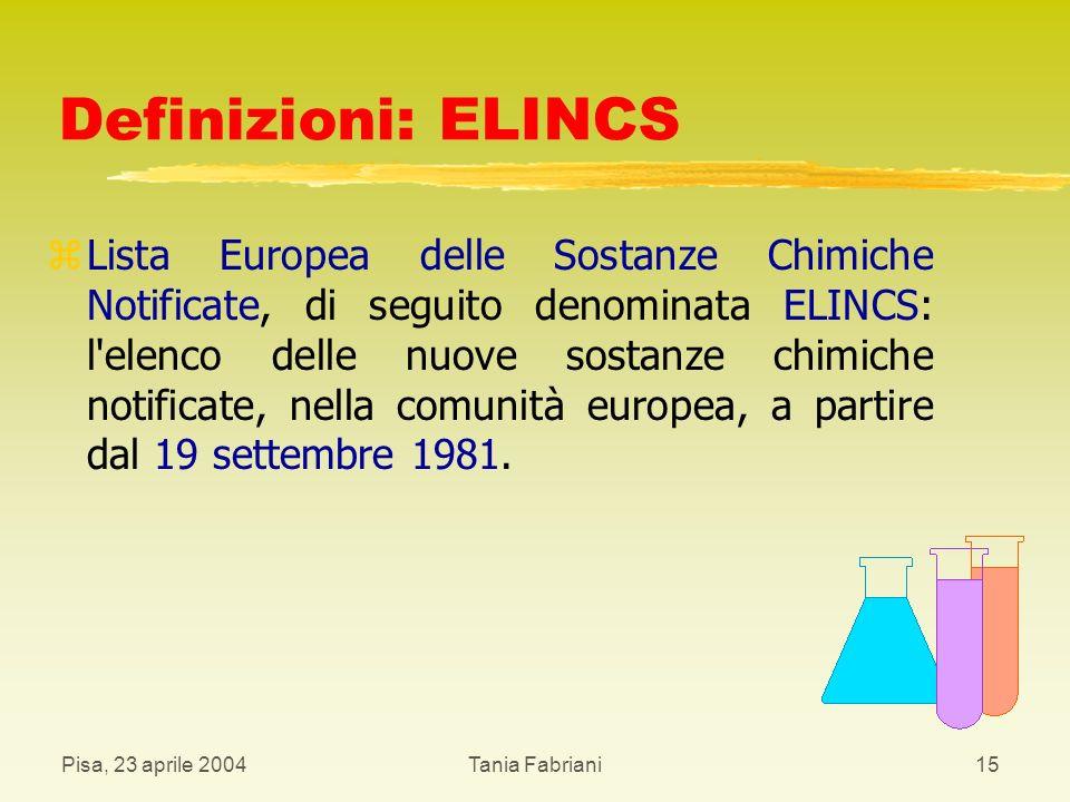 Definizioni: ELINCS