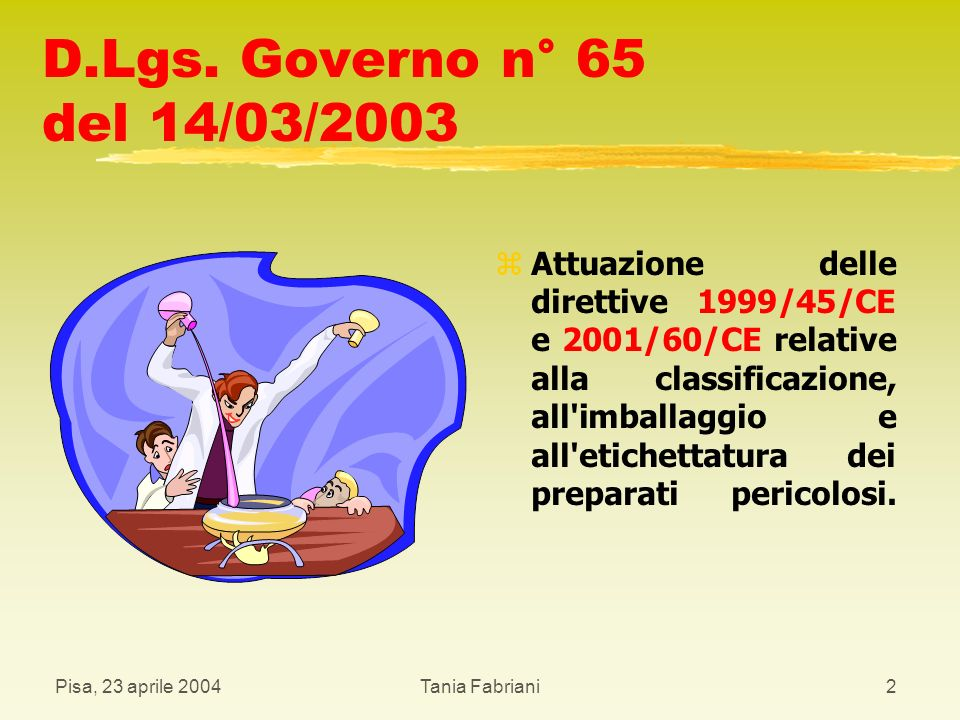 D.Lgs. Governo n° 65 del 14/03/2003