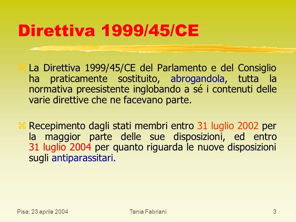 Direttiva 1999/45/CE