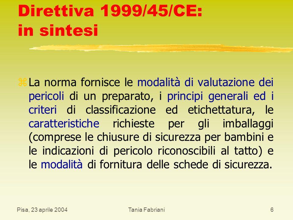 Direttiva 1999/45/CE: in sintesi