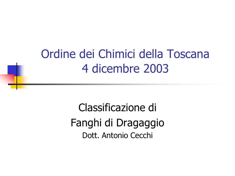 Ordine dei Chimici della Toscana 4 dicembre 2003