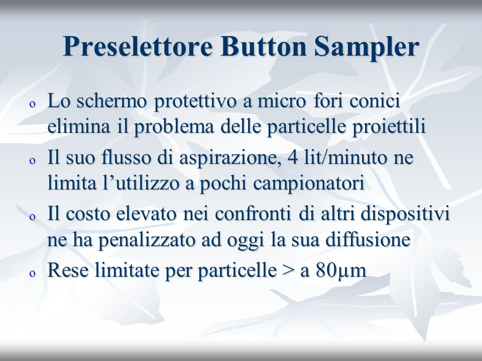 Preselettore Button Sampler