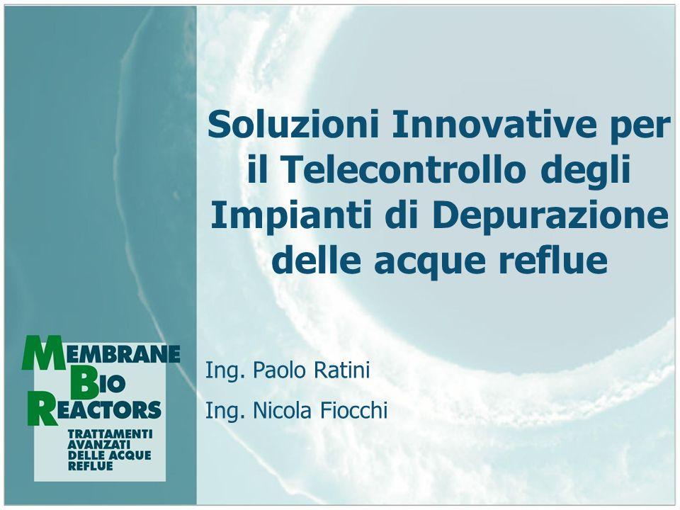 Soluzioni Innovative per il Telecontrollo degli Impianti di Depurazione delle acque reflue