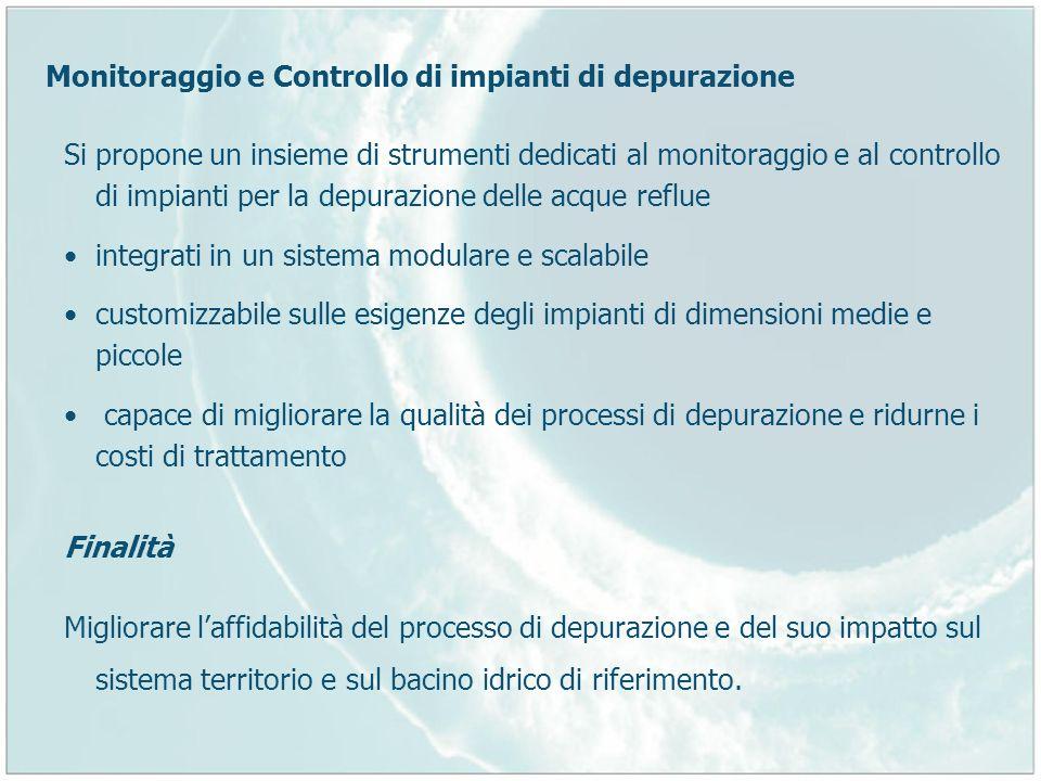 Monitoraggio e Controllo di impianti di depurazione