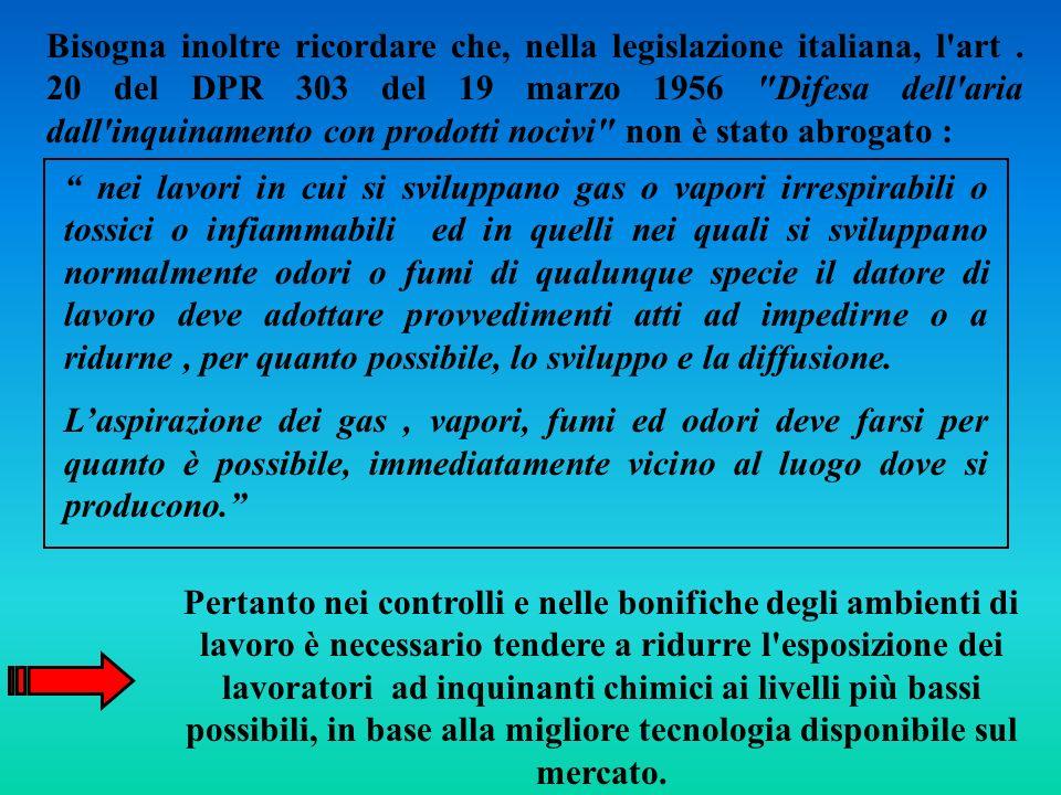 Bisogna inoltre ricordare che, nella legislazione italiana, l art