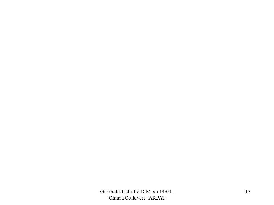 Giornata di studio D.M. su 44/04 - Chiara Collaveri - ARPAT