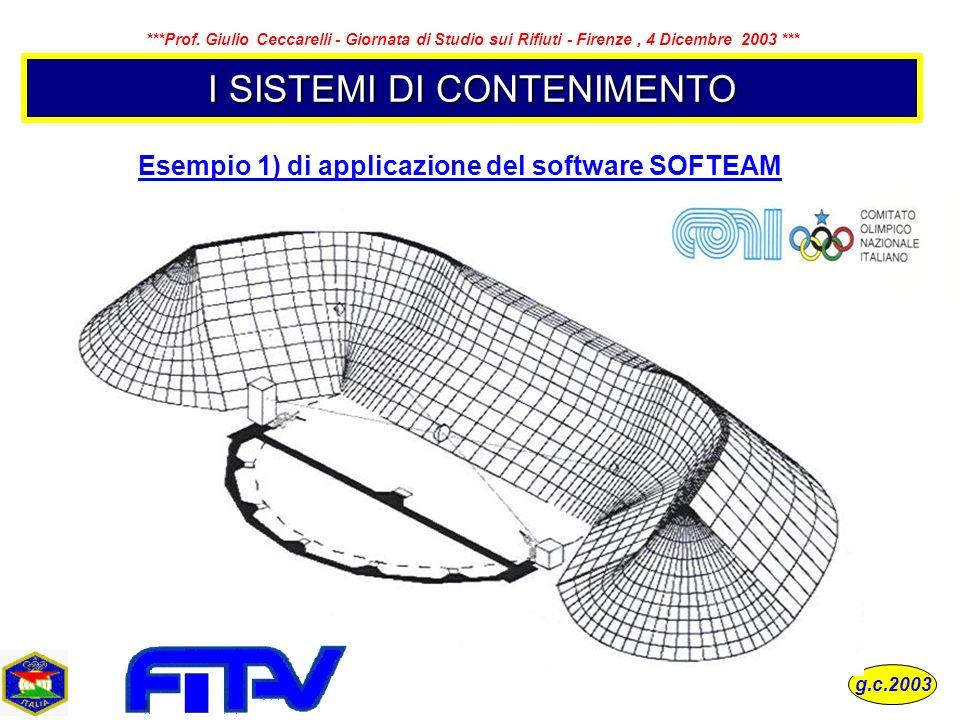 Esempio 1) di applicazione del software SOFTEAM