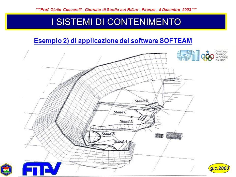 Esempio 2) di applicazione del software SOFTEAM