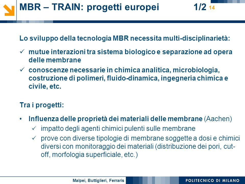 MBR – TRAIN: progetti europei 1/2