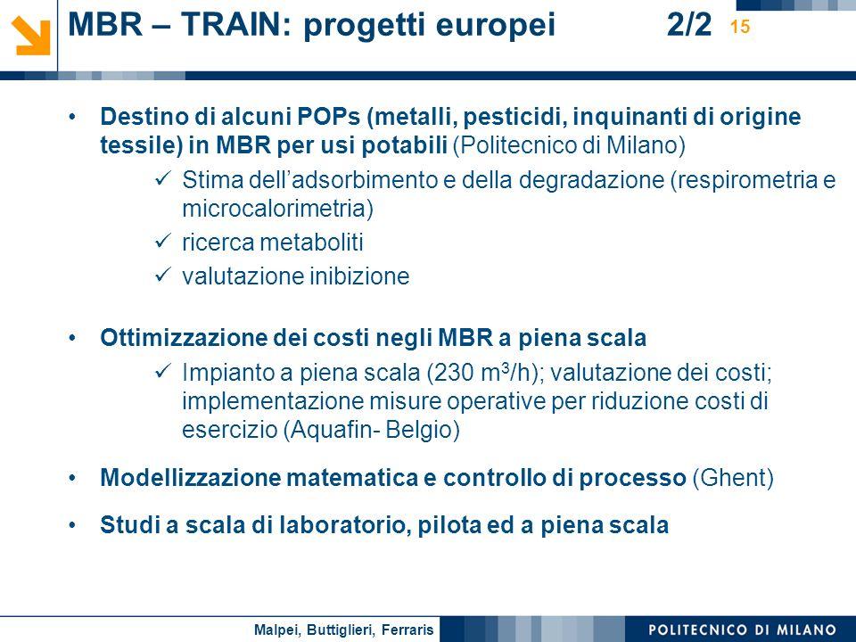 MBR – TRAIN: progetti europei 2/2