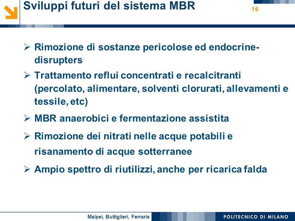Sviluppi futuri del sistema MBR