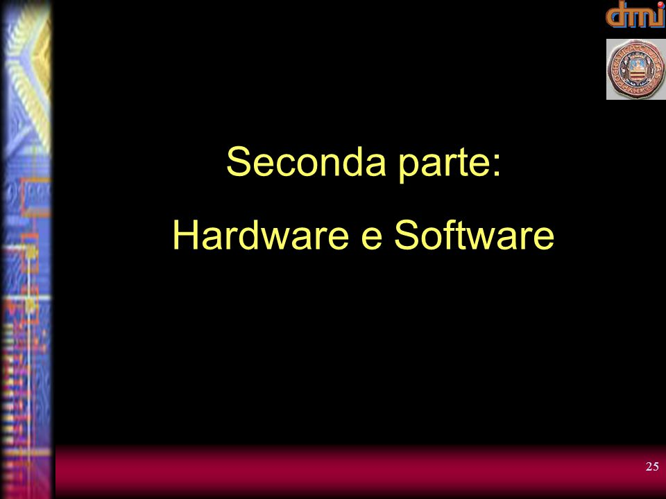 Seconda parte: Hardware e Software