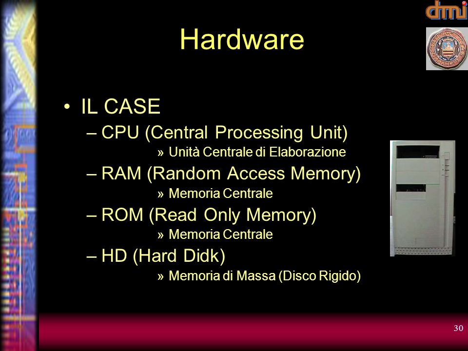 Hardware IL CASE CPU (Central Processing Unit)