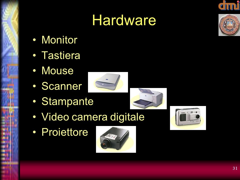 Hardware Monitor Tastiera Mouse Scanner Stampante