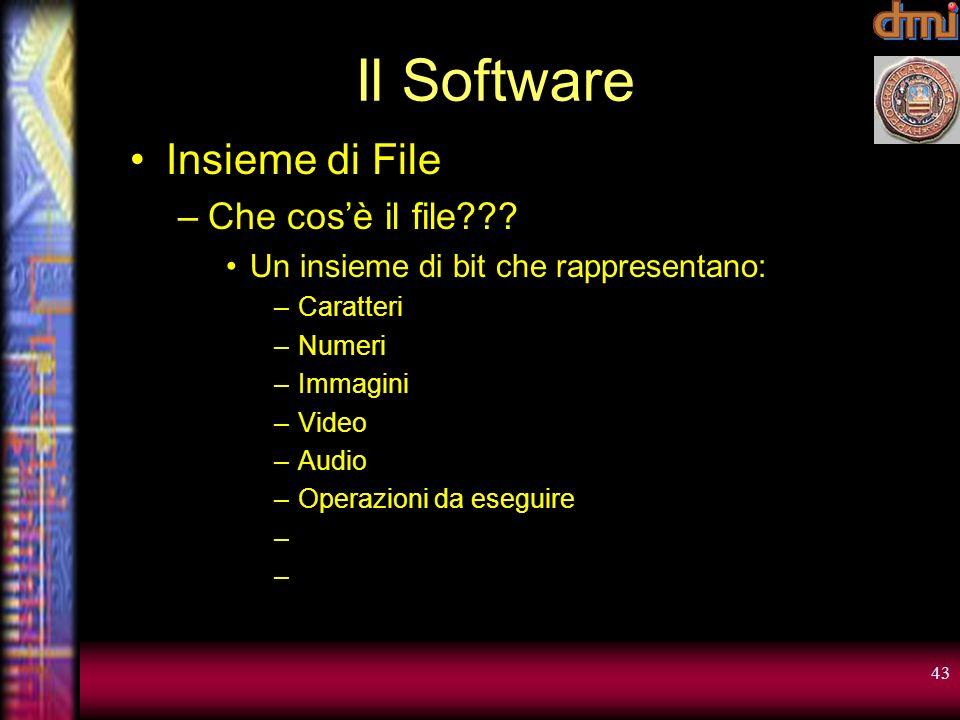 Il Software Insieme di File Che cos'è il file