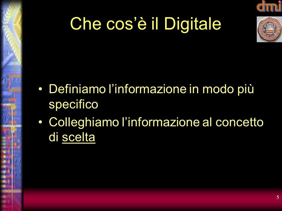 Che cos'è il Digitale Definiamo l'informazione in modo più specifico