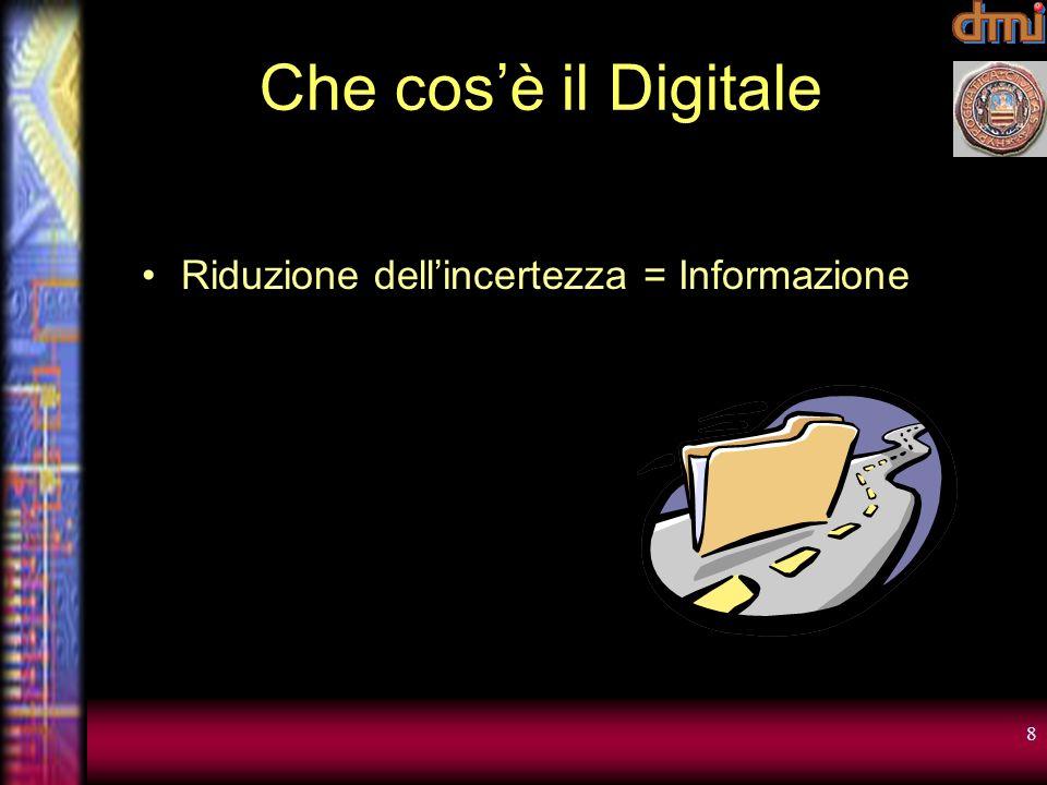Che cos'è il Digitale Riduzione dell'incertezza = Informazione