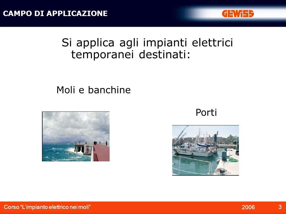 Si applica agli impianti elettrici temporanei destinati: