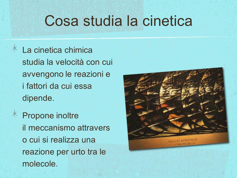 Cosa studia la cinetica