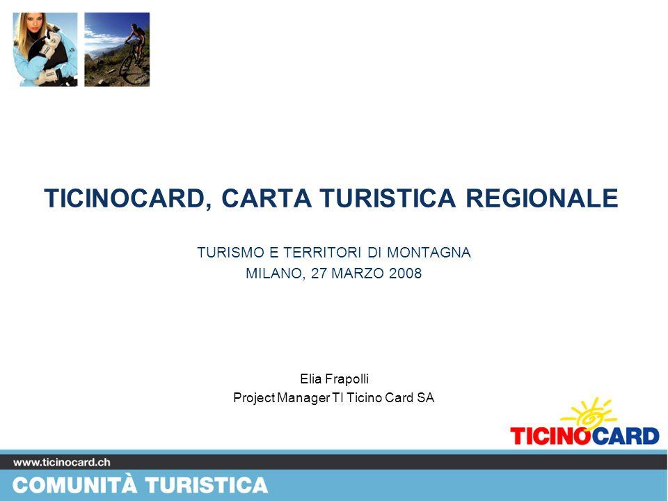 TICINOCARD, CARTA TURISTICA REGIONALE