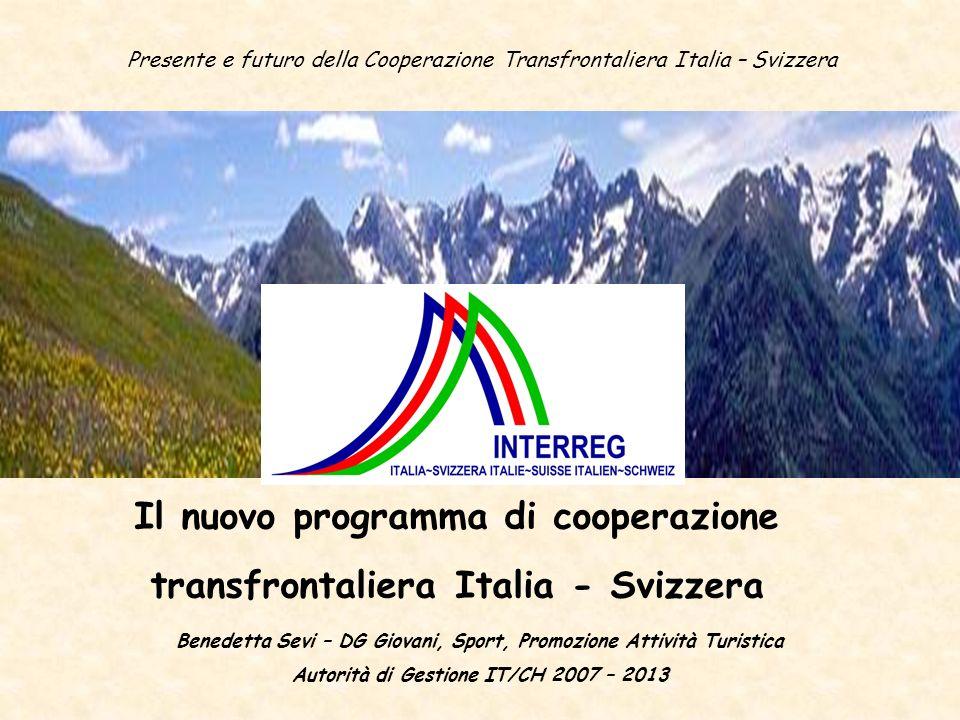 Il nuovo programma di cooperazione transfrontaliera Italia - Svizzera