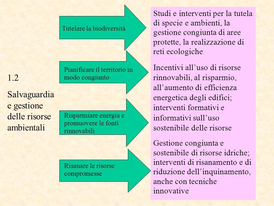 Salvaguardia e gestione delle risorse ambientali