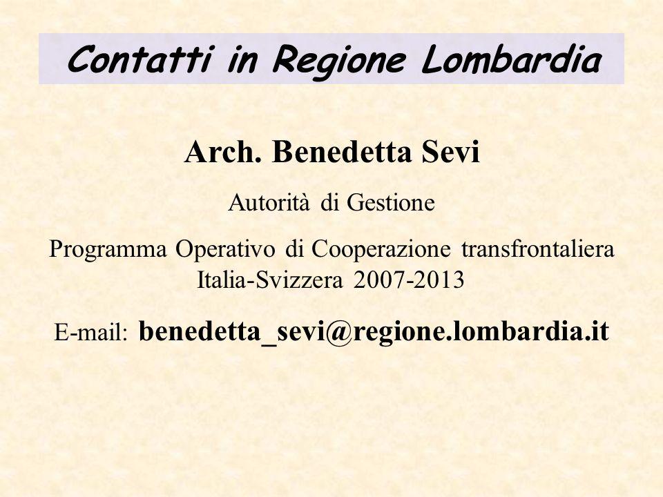 Contatti in Regione Lombardia