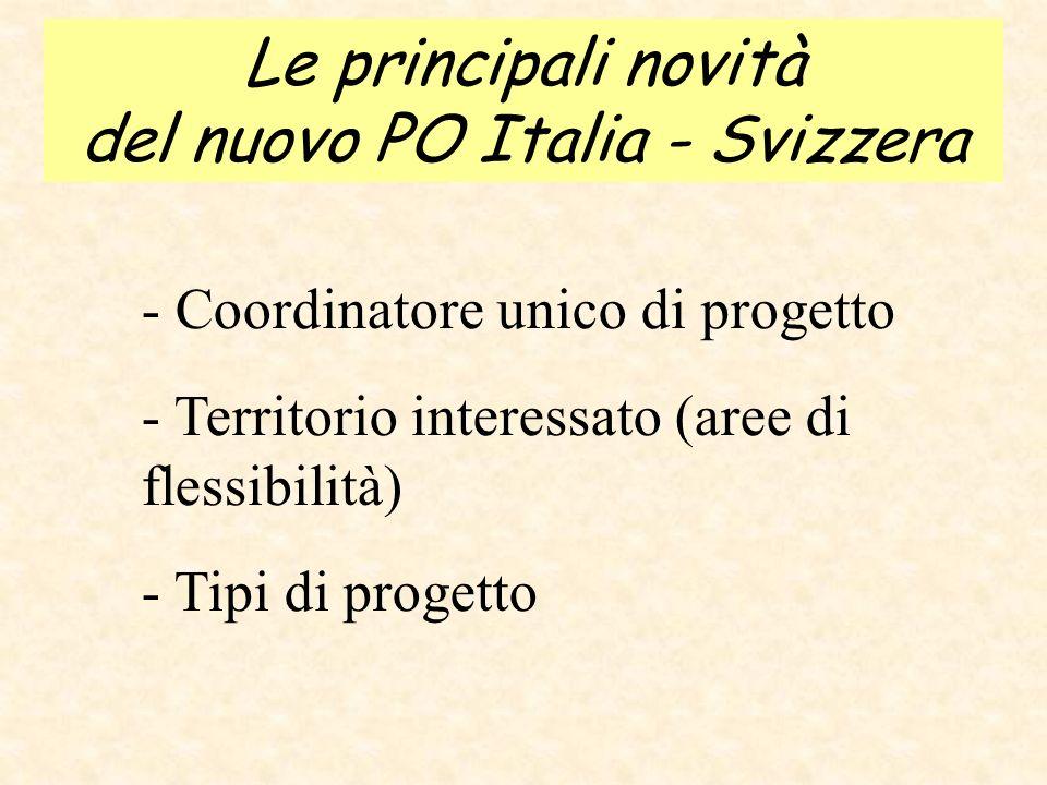 Le principali novità del nuovo PO Italia - Svizzera