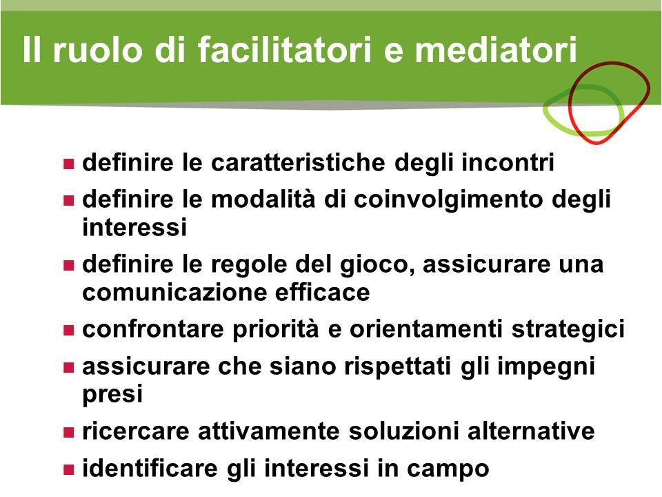 Il ruolo di facilitatori e mediatori