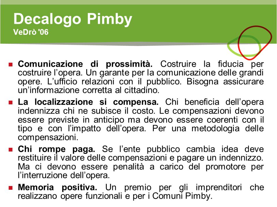 Decalogo Pimby VeDrò 06