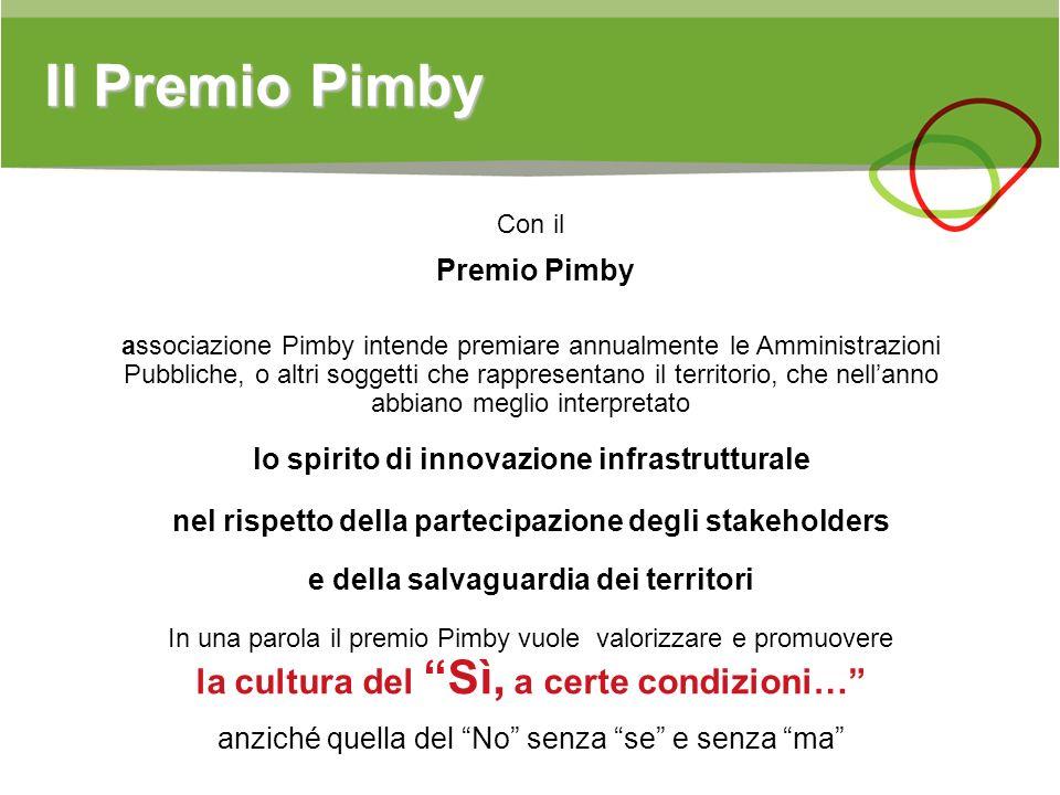 Il Premio Pimby Premio Pimby