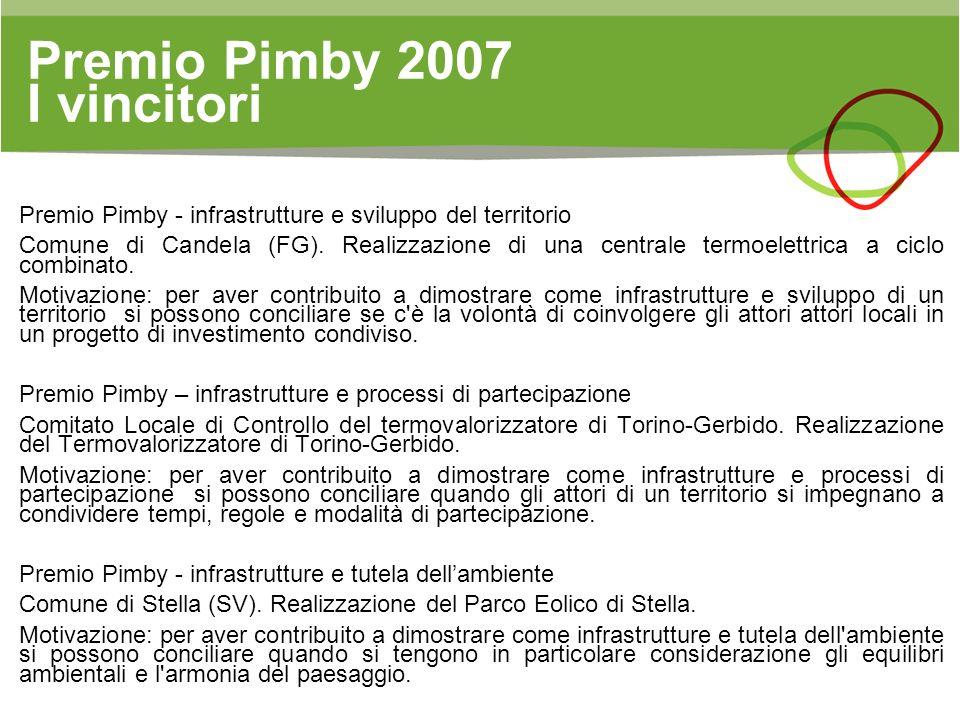 Premio Pimby 2007 I vincitori
