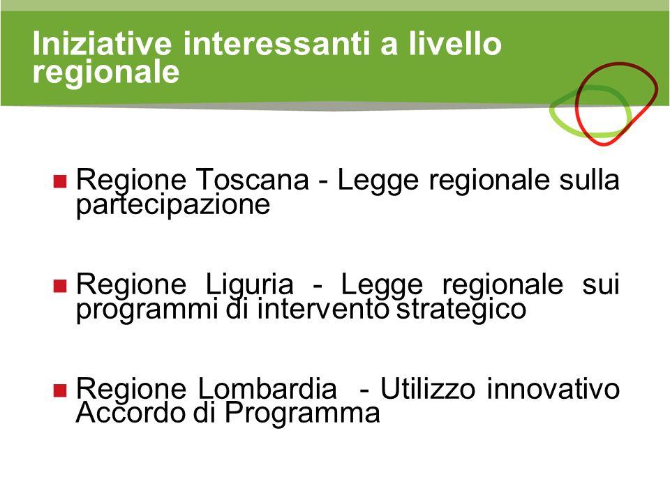 Iniziative interessanti a livello regionale
