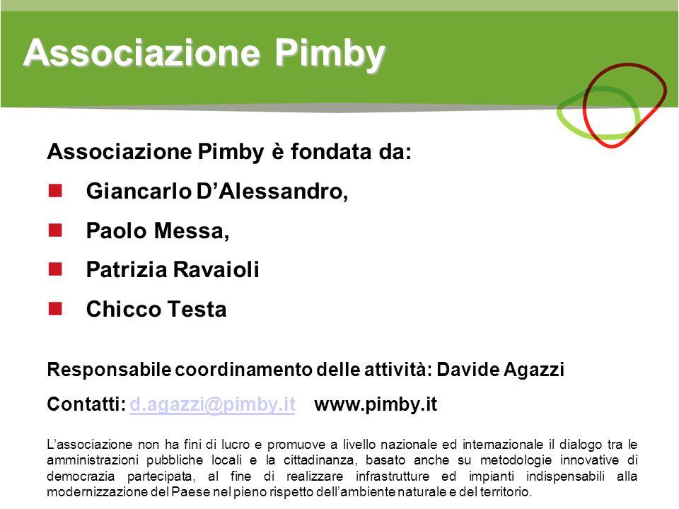 Associazione Pimby Associazione Pimby è fondata da: