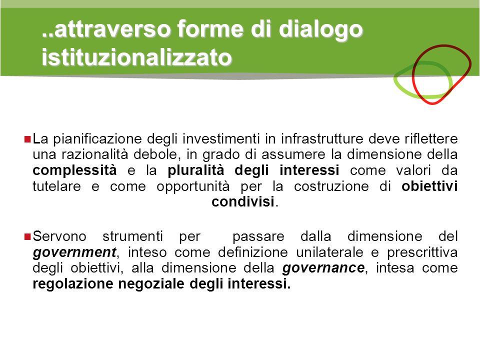 ..attraverso forme di dialogo istituzionalizzato