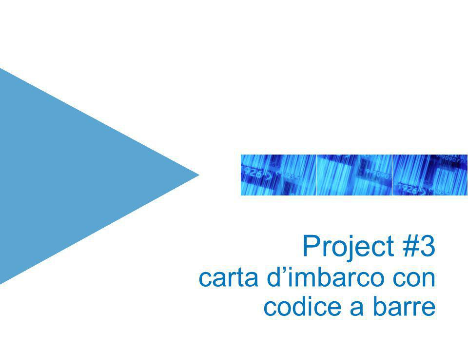 Project #3 carta d'imbarco con codice a barre