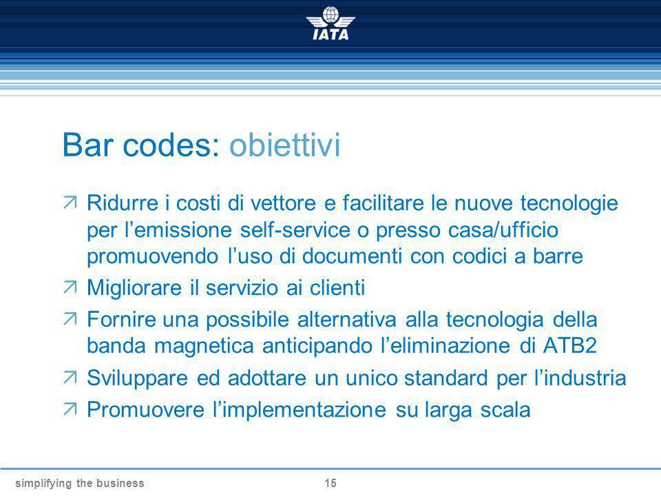 Bar codes: obiettivi