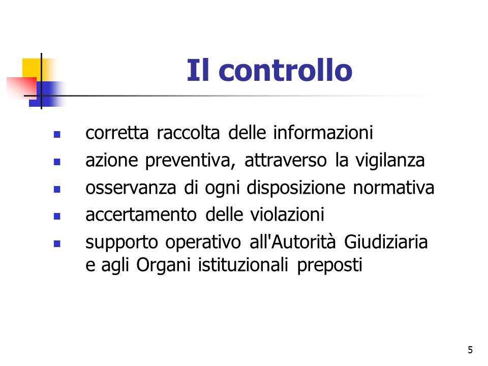 Il controllo corretta raccolta delle informazioni