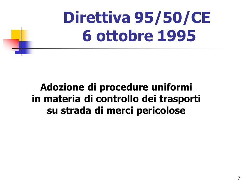 Direttiva 95/50/CE 6 ottobre 1995
