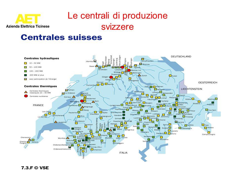 Le centrali di produzione svizzere