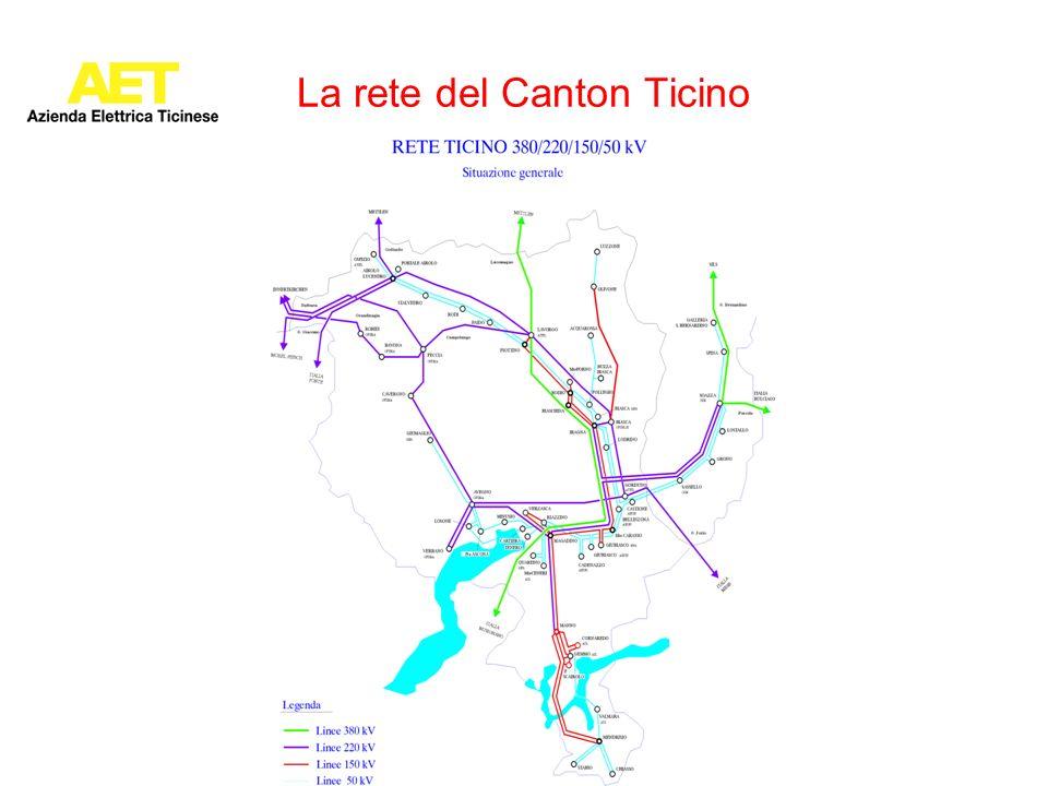 La rete del Canton Ticino