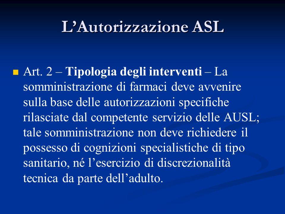 L'Autorizzazione ASL