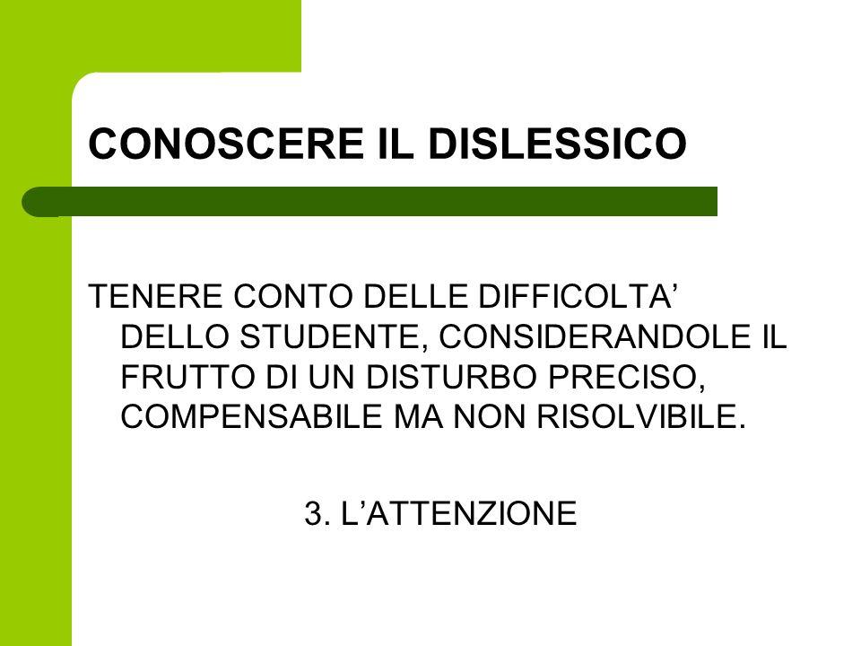 CONOSCERE IL DISLESSICO