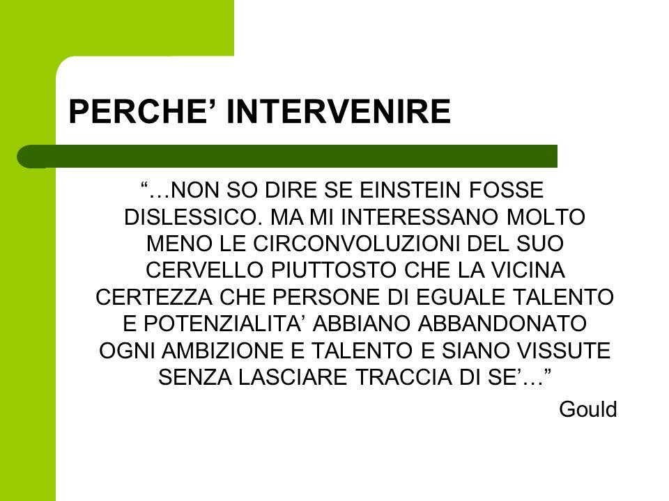 PERCHE' INTERVENIRE