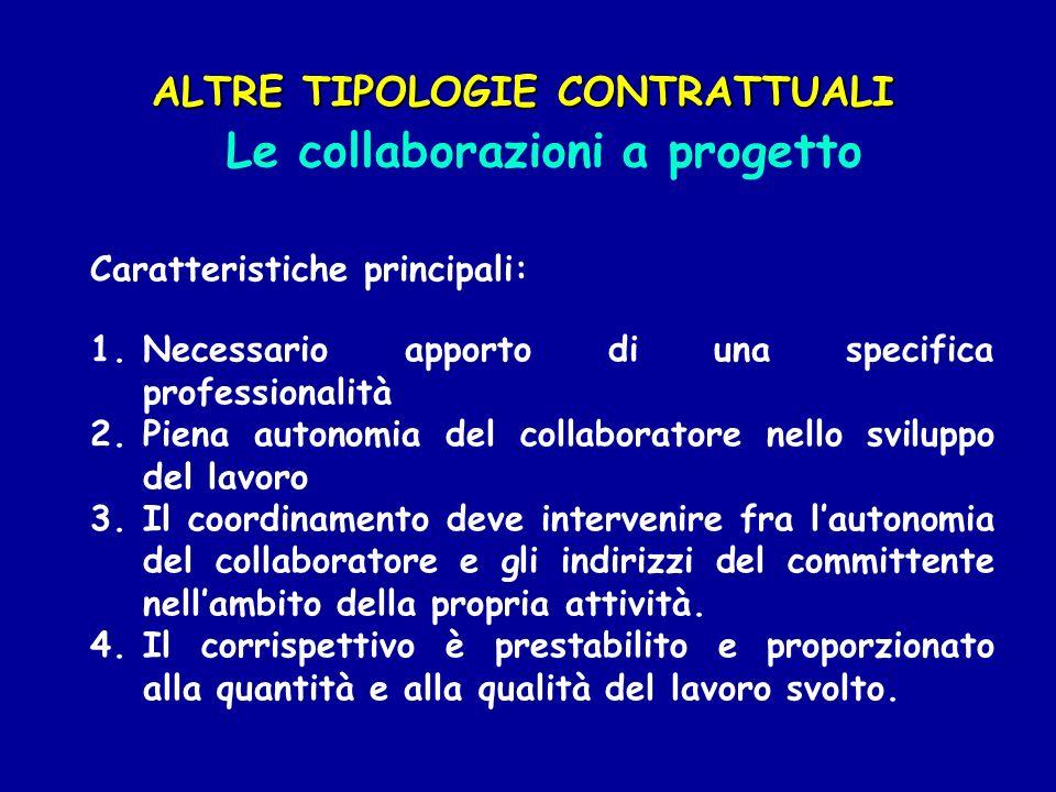 Le collaborazioni a progetto