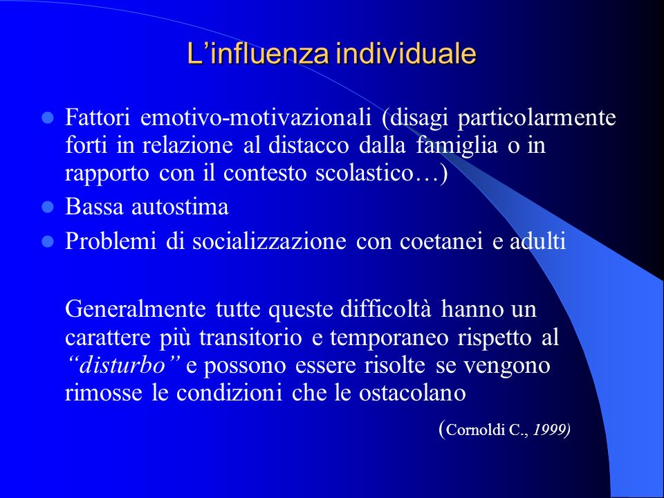 L'influenza individuale