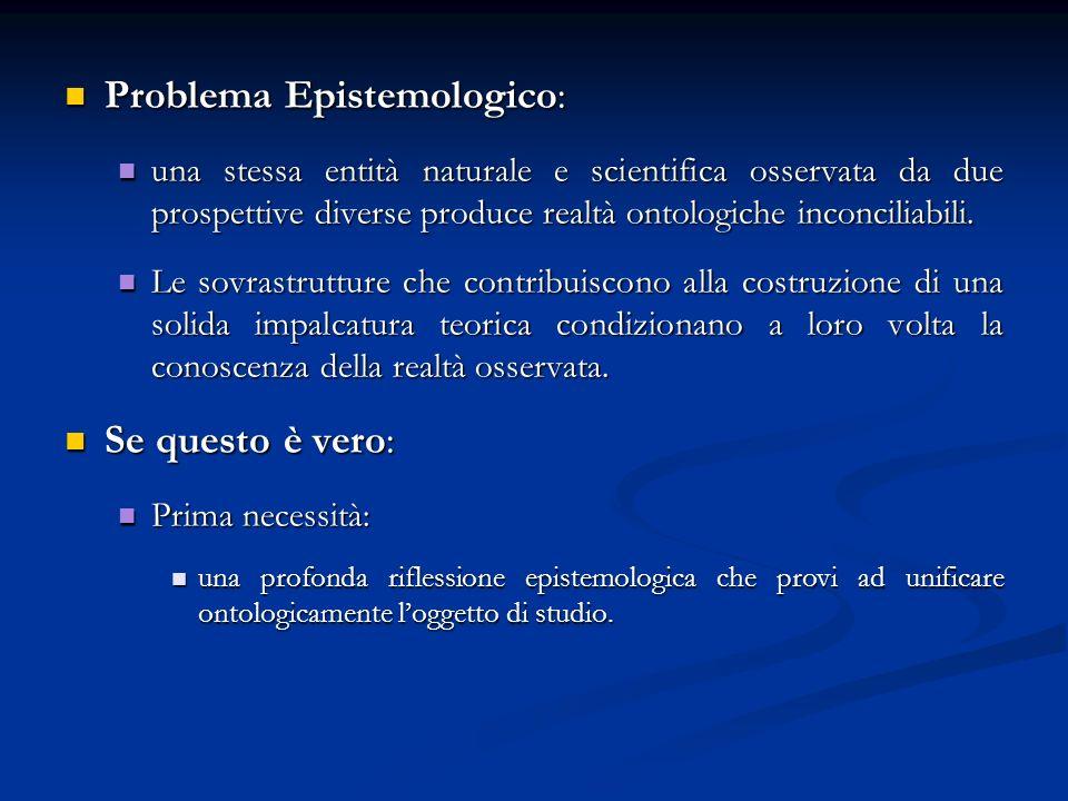Problema Epistemologico: