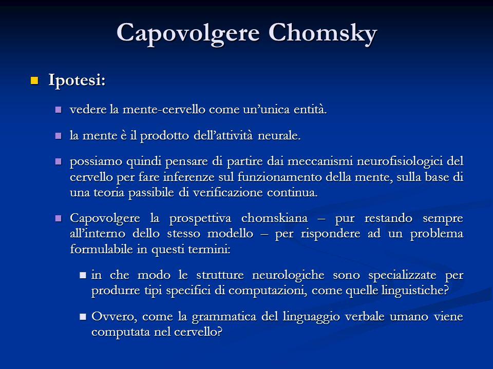 Capovolgere Chomsky Ipotesi: