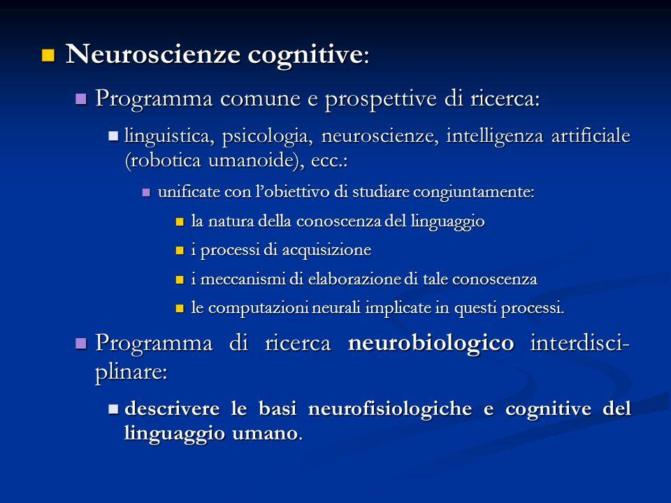 Neuroscienze cognitive: