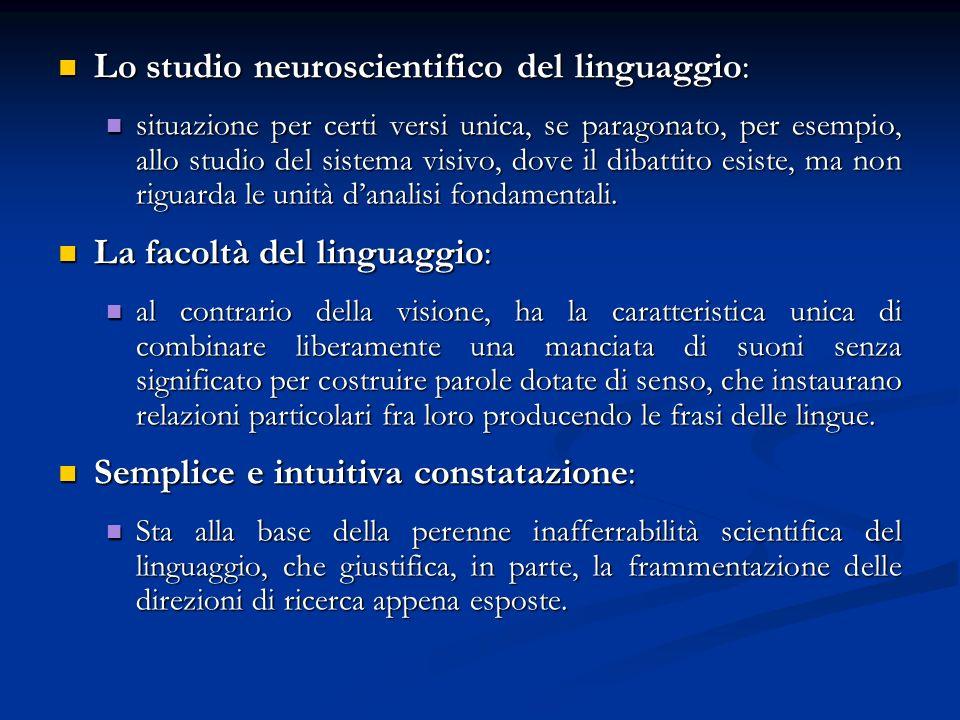 Lo studio neuroscientifico del linguaggio: